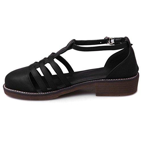 Coolcept Block Low Black Shoes Heel Court 2 Women rr7qUxz