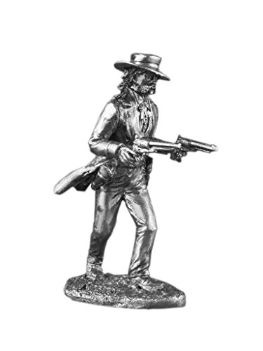Wild West Bill Hickok American Gunfighter UnPainted Tin Metal Toy Soldier Size 1/32 Scale 54mm for Home Collectible Figurines ITEM #Us-02