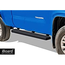 "Matte Black 5"" iBoard Running Boards Fit 05-17 Toyota Tacoma Access Cab"