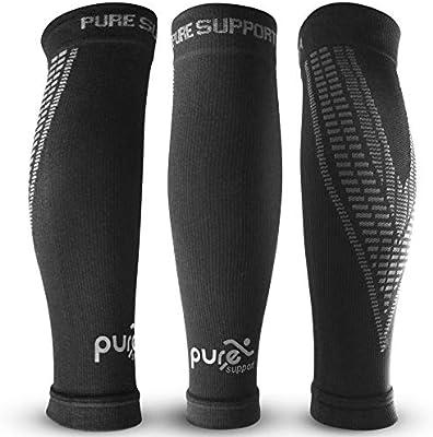 3bcf8bea82 Compression Calf Sleeve Support Brace - Calf Support Sleeve Brace - Shin  Splints- Best for Running - Torn Muscle ...