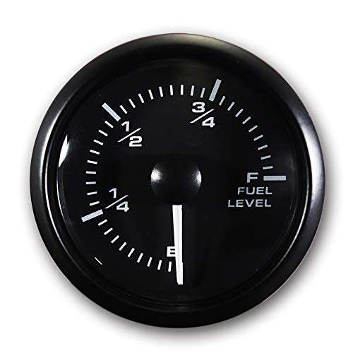 MOTOR METER RACING Clock Gauge 2 White LED Backlit Waterproof Pin-Style Install