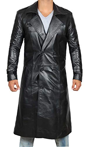 BlingSoul Mens Trench Coat Long | Punish Coat, 3XL