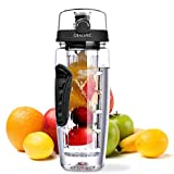 OMORC Fruit Infuser Water Bottle 34oz/1L