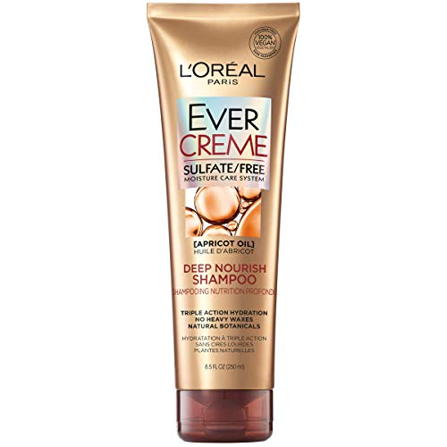 L'Oréal Paris EverCreme Sulfate Free Deep Nourish Shampoo, 8.5 fl. oz.