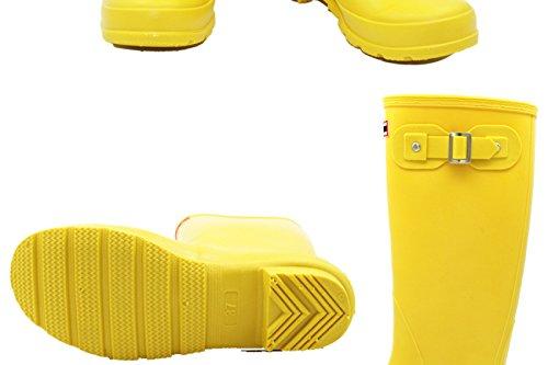 HOFFNUNG Männer Frauen Regen Stiefel Wasser Schuhe Wasser Anti-Schlamm Vier Jahreszeiten Anti-Rutsch Keep Warm Soft,C-a A