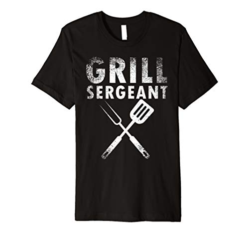 - Funny Father's Day Gift Grill Sergeant Grilling Dad Vintage Premium T-Shirt