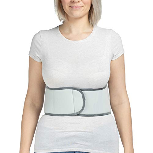 Broken Rib Belt, Elastic Body Rib Protector Support Brace Chest Wrap Belt for Cracked, Fractured or Dislocated Ribs Protection, Compression and Support (Female - Fits 26