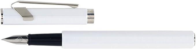 Caran dAche 849 EF Stylo plume M/étal Blanc