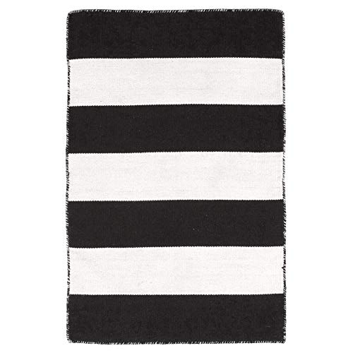 Liora Manne Sorrento Rugby Stripe Area Rug, Indoor/Outdoor, 24-Inch by 36-Inch, -