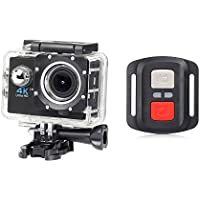 Portable Mini Wifi Sports Action Camera with Remote Control, HD 4K 2.4G Waterproof H16R DV Camcorder 170 Degree Wide Angle 2 inch LCD Screen, Rechargable Batteries