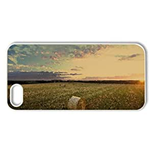 Straw Bales, Sunset Watercolor style Cover iPhone 5 and 5S Case (Landscape Watercolor style Cover iPhone 5 and 5S Case)