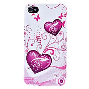 Mini - Exquisite Purple Love Flash Powder Hard Case for iPhone 4/4S