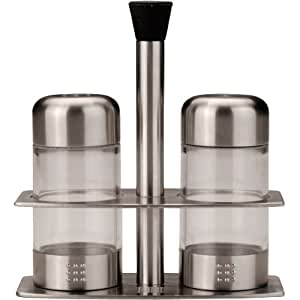 Berghoff Designer Salt & Pepper Dispenser Set with Stand