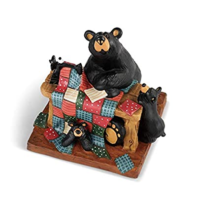 DEMDACO Quilting with Cubs Midnight Black 5 x 4 Resin Stone Collectible Figurine
