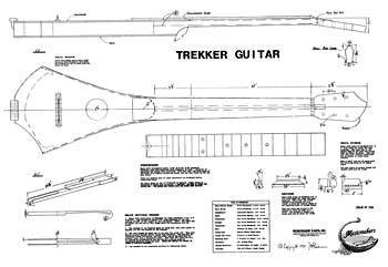 Amazon trekker travel guitar blueprint musical instruments trekker travel guitar blueprint malvernweather Choice Image