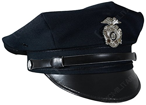 Mil-Tec US Police 8 Point Visor Cap - Dark Blue (Large) 7c6f5b900a0e