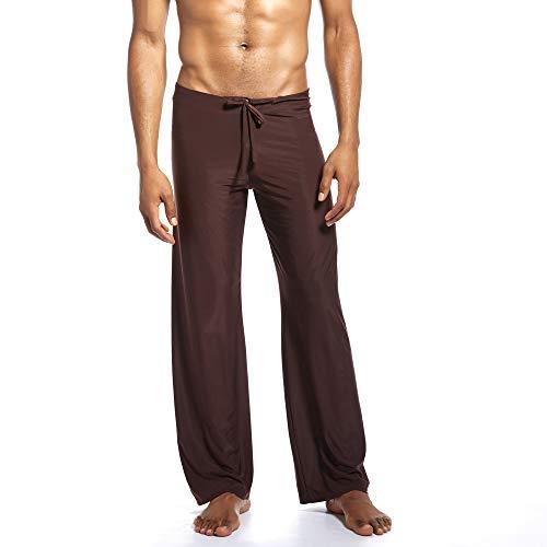Men's Super Soft Yoga Pants Long Knit Slant Pockets Pajama Lounge Pants Fashion Solid Comfortable Trousers