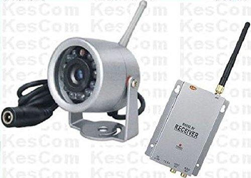 KesCom ® 815N mini caméra couleur sans fil de surveillance de sécurité la nuit, 1 canal à 4 ne sont pas disponibles (ajustable) avec 4 canaux avec récepteur 2,4 gHZ Itcheck