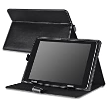"""Everydaysource Black Heavy-duty Protective High Impact Durable Horizontal Stand Leather Skin Case for Apple iPad 9.7"""" (2017), 10-inch tablet"""