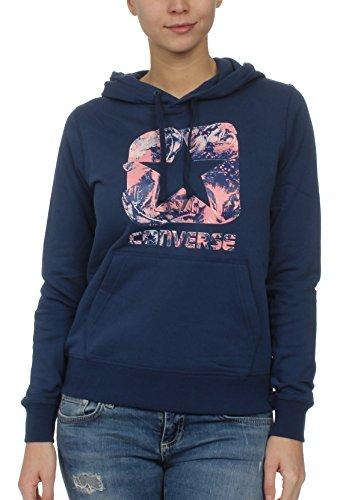 Azul Hoodie Mujer Sudadera navy Graphic Converse Pullover Boxstar pAYYqP
