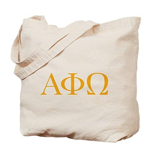 CafePress–Alpha Phi Omega letras amarillo–Gamuza de bolsa de lona bolsa, bolsa de la compra