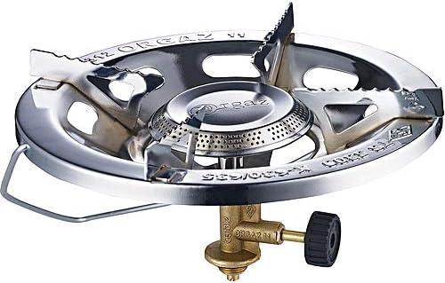 Hornillo fogón a gas portátil para cocinar en camping o exteriores. Hornillo de hierro (acero) + revestimiento de cromo para cocinar a gas ...