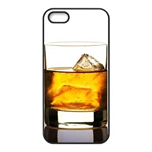 Creative Old Scotch Ice Whiskey Design Snap on Apple iPhone 5/5s(TPU) Nice Durable Soft Rubber Case Cover