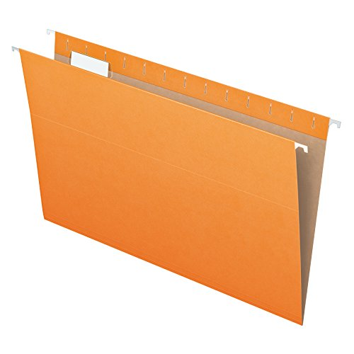 Pendaflex Essentials Hanging Folders, Legal Size, Orange, 25 per Box (81627)