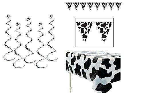 COW Spots PARTY Decorations - Plastic TABLECLOTH (54