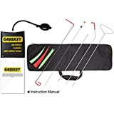 Greekey Full Professional Car Kit with Long Reach Grabber, Air Wedge, 3 Non Marring Wedges, Knob Grabber, Short Grabber, Pry Tool for Car Door and Home Door-Window