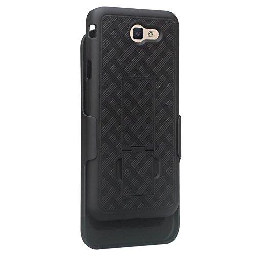 GALAXY WIRELESS Compatible For Samsung Galaxy J7v Case/J7 (2017) Case/J7 Prime Case/J7 Perx Case/J7 Sky Pro Case,Galaxy Halo Swivel Slim Belt Clip Holster Protective Case Cover [Kickstand] - Black by GALAXY WIRELESS (Image #4)