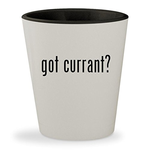 Black Currant Liqueur (got currant? - White Outer & Black Inner Ceramic 1.5oz Shot Glass)