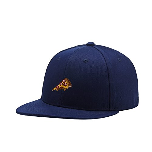Popular-wear Pizza Navy Blue Embroidered Logo Adjustable Hiphop Hat Baseball Cap Onesize Teenager
