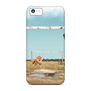 LauraGroff-Y Perfect Tpu Case For Iphone 5c/ Anti-scratch Protector Case (elephant Vs Lion)