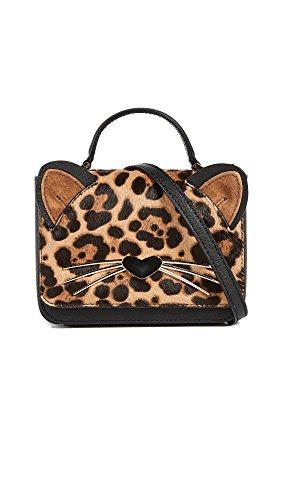 Kate Spade New York Women's Leopard Mini Janine Cross Body Bag, Multi, One Size by Kate Spade New York