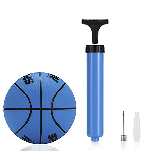Mini Basketball Water Basketball - Kids Indoor Basketball - 5 Inch Diameter - Soft and Bouncy (navy blue)