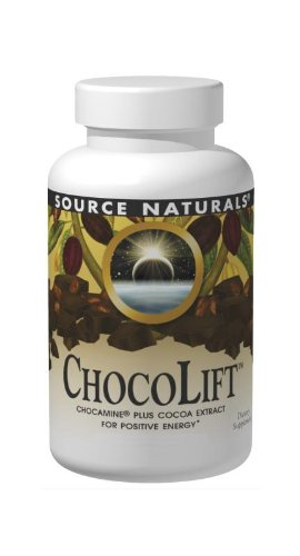 Source Naturals ChocoLift 500mg, Chocamine Cocoa Extract for Positive Energy, 30 Capsules