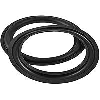 Facmogu 2pcs 4/5/ 8 inch Speaker Foam Surround Repair Kit, 99mm Perforated Rubber Edge Rings Replacement Parts Speaker Repair DIY