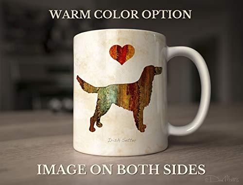 Irish Setter Dog Breed Mug by Dan Morris, Personalize with Dog Name