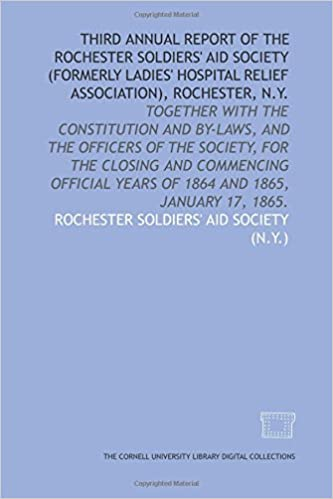 Third annual report of the Rochester Soldiers' Aid Society (formerly