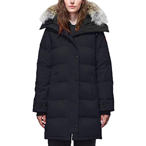 Women's Canada Shelburne Winter Fusion Fit Down Navy Parka (XL) (Canadian Down & Feather Company Gel Microfibre Duvet)