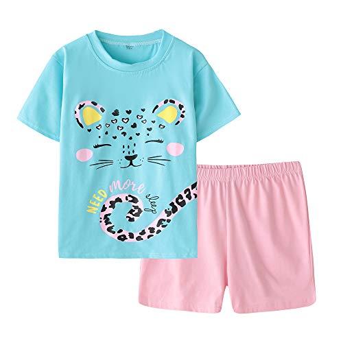 MyFav Big Girls' Summer Pajama Sets Cute Horse Sleepwears Cartoon Children PJS by MyFav