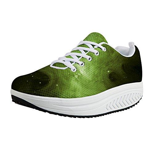 Women Shoes Breathable Mesh Leisure comfortable Shoes(green) - 6