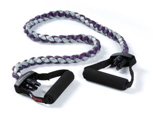 SPRI Braided Xertube Resistance Band Exercise Cords, Ultra Heavy (Level 5)