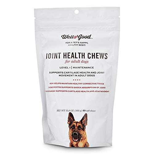 (Well & Good Adult Level 1 Dog Joint Health Chews, 12.6 oz, Count of 60, 4.2 in)