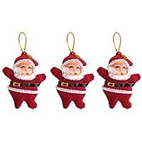 Yılbaşı Kırmızı Noel Baba Ağaç Süsü 3lü