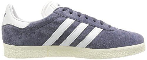 Adidas Unisex-voksen Gazelle Lav-top, Rød, Grå 45_1_3 (nemesis / Vintage Hvid / Guld Opfyldt.)