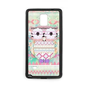Diy Aztec Tribal Owl Phone Case for samsung galaxy note 4 Black Shell Phone JFLIFE(TM) [Pattern-3]