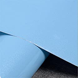 New 61cm Wide PVC Vinyl Films Self Adhesive Wallpaper Wardrobe Cupboard Furniture Poster Kitchen Sky Blue 61CM X 5 Meters