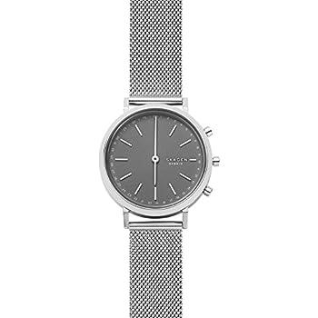 Skagen Connected Womens Mini Hald Stainless Steel Mesh Hybrid Smartwatch, Color: Silver-Tone (Model: SKT1409)
